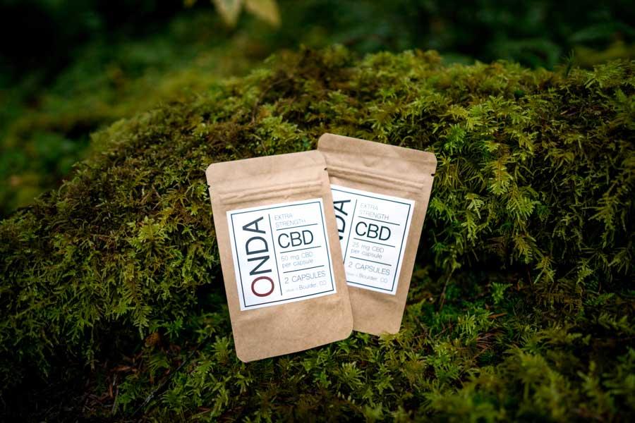CBD capsules package ONDA