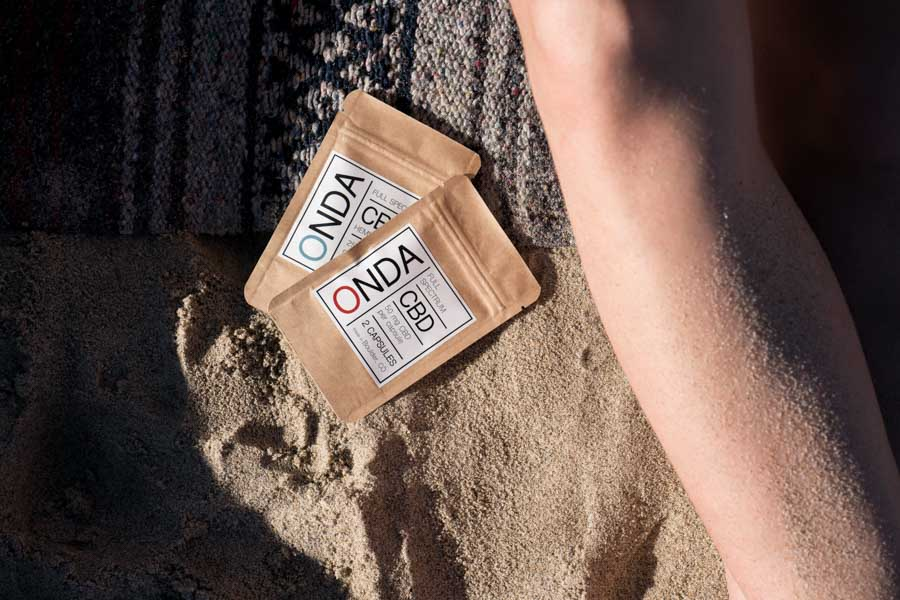ONDA-CBD-Coconut-Capsules-Variety-Sample-Packets-Beach
