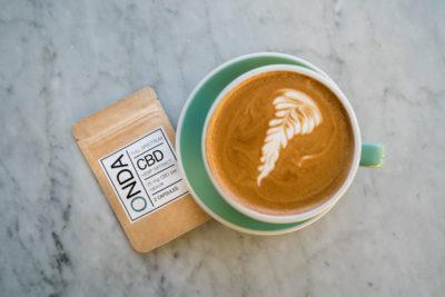 ONDA CBD capsules and coffee