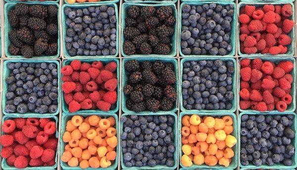 Berries for CBD-infused berry vinaigrette dressing