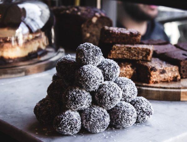 CBD-Infused Hazelnut + Chocolate Fudge Energy Bites