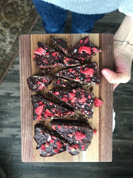 CBD Infused Darck Chocolate Bark
