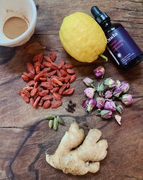 Hemp Immunity Infusion ONDA Wellness Spiced Ginger Tea